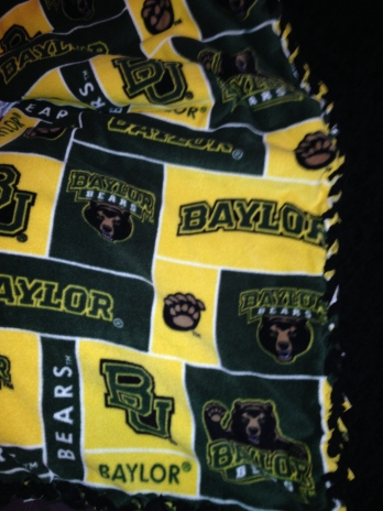 Finished Baylor stadium blanket